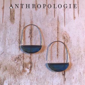 Anthropologie Crescent Hoop Earrings